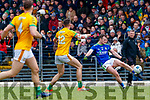 Tom O'Sullivan, Kerry in action against Ethan Devine, Meath during the Allianz Football League Division 1 Round 4 match between Kerry and Meath at Fitzgerald Stadium in Killarney, on Sunday.