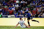Chelsea Defender Gary Cahill (L) trips up with FC Internazionale Defender Danilo D'Ambrosio (R) during the International Champions Cup 2017 match between FC Internazionale and Chelsea FC on July 29, 2017 in Singapore. Photo by Marcio Rodrigo Machado / Power Sport Images