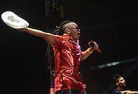 BARRANQUIILLA -COLOMBIA-17-FEBRERO-2015. <br /> Mr Black  artistas urbanos del momento fueron los m‡s esperados y ovacionados.<br /> Miles de barranquilleros disfrutaron en el Romelio Mart'nez de una constelaci—n de grandes estrellas que con su mœsica iluminan el cielo barranquillero, en el tercer d'a de Carnaval./ Mr Black urban artists of the time were the most anticipated and acclaimed.<br /> Thousands of barranquilleros enjoyed in the Romelio Martinez of a constellation of superstars whose music barranquillero light up the sky, on the third day of Carnival .Photo:VizzoImage / Alfonso Cervantes / Stringer