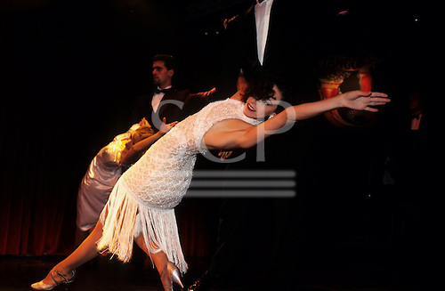 Buenos Aires, Argentina. Two couples dancing the Tango.