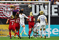 New Orleans, LA - Thursday October 19, 2017: Alyssa Naeher during an International friendly match between the Women's National teams of the United States (USA) and South Korea (KOR) at Mercedes Benz Superdome.