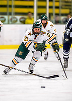 2 February 2013: University of Vermont Catamount forward Amanda Pelkey, a Sophomore from Montpelier, VT, in action against the University of New Hampshire Wildcats at Gutterson Fieldhouse in Burlington, Vermont. The Lady Wildcats defeated the Lady Catamounts 4-2 in Hockey East play. Mandatory Credit: Ed Wolfstein Photo