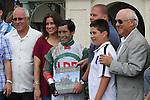 July 05, 2014:  Little Alexis (KY) with jockey Edgar Prado on board wins the Cash Run Stakes at Gulfstream Park in Hallandale Beach FL. Liz Lamont/ESW/CSM