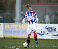 20140315 - WESTERLO , BELGIUM :  Heerenveen Charissa Burgwal pictured during the soccer match between the women teams of SK Lierse Dames  and SC Heerenveen Vrouwen , on the 19th matchday of the BeNeleague competition Saturday 15 March 2014 in Westerlo . PHOTO DAVID CATRY