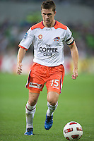 MELBOURNE, AUSTRALIA - DECEMBER 03: Matt McKay of the Roar controls the ball during the round 17 A-League match between the Melbourne Victory and the Brisbane Roar at AAMI Park on December 3, 2010 in Melbourne, Australia. (Photo by Sydney Low / Asterisk Images)