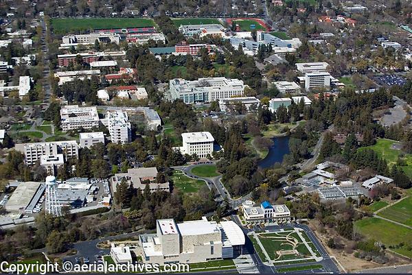 aerial photograph of University of California at Davis campus, Davis, Yolo County, California