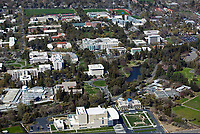 aerial photograph of University of California at Davis campus, Davis, Yolo County, California