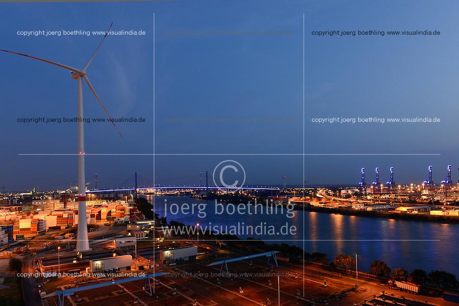 GERMANY Hamburg, Nordex wind turbine N117/3000 at treatment plant of Hamburg Wasser, the local water supplier / DEUTSCHLAND Hamburg, Nordex Windkraftanlage N117/3000 auf dem Gelaende Klaerwerk Koehlbrandhoeft von Hamburg Wasser