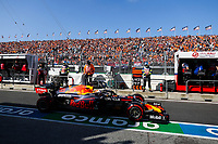 4th September 2021: Circuit Zandvoort, Zandvoort, Netherlands;  33 VERSTAPPEN Max nld, Red Bull Racing Honda RB16B pitlane, during the Formula 1 Heineken Dutch Grand Prix 2