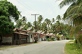 Alagoas State, Brazil. Small village houses with satellite dishes.