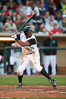 Dayton Dragons outfielder Narciso Crook (36) at bat during a game against the Great Lakes Loons on May 21, 2015 at Fifth Third Field in Dayton, Ohio.  Great Lakes defeated Dayton 4-3.  (Mike Janes/Four Seam Images)