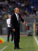 Calcio, Serie A: Lazio vs Bologna. Roma, stadio Olimpico, 22 agosto 2015.<br /> Bologna coach Delio Rossi gives indications to his players during the Italian Serie A football match between Lazio and Bologna at Rome's Olympic stadium, 22 August 2015.<br /> UPDATE IMAGES PRESS/Isabella Bonotto