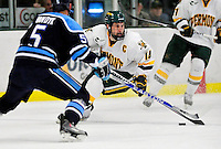 30 January 2010: University of Vermont Catamount forward Brian Roloff, a Senior from West Seneca, NY, in action against the University of Maine Black Bears at Gutterson Fieldhouse in Burlington, Vermont. The Maine Black Bears and the Catamounts played to a 4-4 tie in the second game of their America East weekend series. Mandatory Credit: Ed Wolfstein Photo
