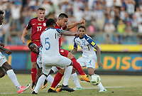 San Pedro Sula, Honduras - Tuesday September 05, 2017: Bobby Wood scores the drawing goal making it 1-1 during a 2017 FIFA World Cup Qualifying (WCQ) round match between the men's national teams of the United States (USA) and Honduras (HON) at Estadio Olímpico Metropolitano.