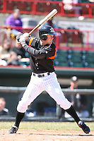April 15th 2008:  Infielder Danny Worth (12) of the Erie Seawolves, Class-AA affiliate of the Detroit Tigers, during a game at Jerry Uht Park in Erie, PA.  Photo by:  Mike Janes/Four Seam Images