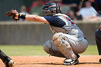 Tennessee catcher Miguel Montero on defense versus Carolina at Five County Stadium in Zebulon, NC, Sunday, July 2, 2006.  The Mudcats defeated the Smokies 4-0.