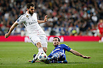 Real Madrid´s Nacho and Schakle 04 Fuchs during Champions League soccer match at Santiago Bernabeu stadium in Madrid, Spain. March, 10, 2015. (ALTERPHOTOS/Caro Marin)