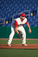 Clearwater Threshers first baseman Kyle Martin (27) during a game against the Dunedin Blue Jays on April 8, 2016 at Bright House Field in Clearwater, Florida.  Dunedin defeated Clearwater 8-3.  (Mike Janes/Four Seam Images)