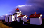 Lighthouse on Point No Point, Hansville, WA at entrance to Puget Sound