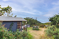 BNPS.co.uk (01202 558833)<br /> Pic: LillicrapChilcott/BNPS<br /> <br /> Pictured: The garden.<br /> <br /> Homebuyers can get the best of coast and country with this spectacular house on the market for offers in excess of £1.5m.<br /> <br /> Westfield sits in an incredible position with views over its own land and the sea at Trevaunance Cove in Cornwall.<br /> <br /> The four-bedroom family home is on the edge of the sought-after village of St Agnes, popular with locals, second home owners and holidaymakers.<br /> <br /> The hub of the home is the open-plan kitchen/family room with a folding door that opens up to the sea-facing terrace.