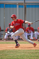 Philadelphia Phillies Ben Pelletier (26) bats during an exhibition game against the Canada Junior National Team on March 11, 2020 at Baseball City in St. Petersburg, Florida.  (Mike Janes/Four Seam Images)