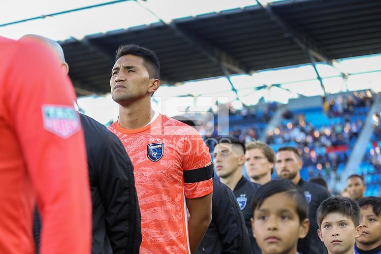 SAN JOSE, CA - AUGUST 03: Daniel Vega  during a Major League Soccer (MLS) match between the San Jose Earthquakes and the Columbus Crew on August 03, 2019 at Avaya Stadium in San Jose, California.