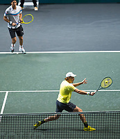 Rotterdam, The Netherlands, 15 Februari 2020, ABNAMRO World Tennis Tournament, Ahoy,<br /> Henri Kontinen (FIN) and Jan-Lennard Struff (GER).<br /> Photo: www.tennisimages.com