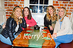Molly O'Donnell from Tralee celebrating her 30th birthday in Sean Og's on Friday, l to r: Molly O'Donnell, Jane Fitzgerald, Niamh Finn and Fiona Kennedy.
