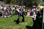 May Day English Village Fair.  Glam Rock Band The Look, at the Perch and Pike pub, South Stoke, Berkshire UK 2006