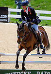 APRIL 27, 2014: SEACOOKIE TSF, ridden by William Fox-Pitt (GBR), competes in the Stadium Jumping Finals at the Rolex Kentucky 3-Day Event at the Kentucky Horse Park in Lexington, KY. Jon Durr/ESW/CSM