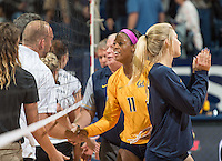 Berkeley, Ca - August 27, 2016: The Cal Bears vs the Southern Utah Thunderbirds match in the 2016 Molten Classic. Final, Cal Bears win the match 3-0.