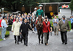 09 October 03:  Gio Ponti, prerace favorite, comes in second behind Interpetation in the 33rd running of the grade 1 Joe Hirsch Turf Classic Invitational Stakes for three year olds and upward at Belmont Park in Elmont, New York.