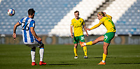12th September 2020 The John Smiths Stadium, Huddersfield, Yorkshire, England; English Championship Football, Huddersfield Town versus Norwich City;  Todd Cantwell of Norwich City  plays a high ball forward into the box