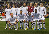 The USMNT poses for a team picture before an international friendly at PPL Park in Chester, PA.  The U.S. tied Columbia, 0-0.