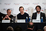 "Javier Gutierrez, Michael Fassbender and the director of the film, Justin Kurzel during the presentation of the film ""Assassin's Creed"" in Madrid, Spain. December 07, 2016. (ALTERPHOTOS/BorjaB.Hojas)"