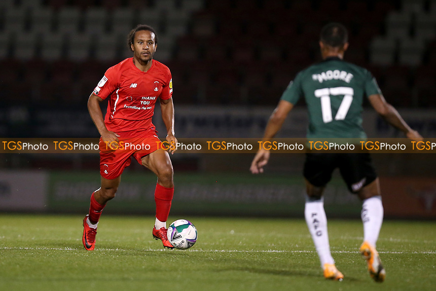 Joe Widdowson of Leyton Orient during Leyton Orient vs Plymouth Argyle, Caraboa Cup Football at The Breyer Group Stadium on 15th September 2020