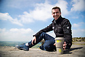 29/05/18<br /> <br /> Peak District National Park officer, Tom Marshall, tries out one of the Peak District National Park's new recyclable mugs on Curbar Edge. <br /> <br /> All Rights Reserved F Stop Press Ltd. +44 (0)1335 344240 +44 (0)7765 242650  www.fstoppress.com