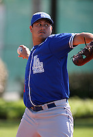 Los Angeles Dodgers minor leaguer William Juarez during Spring Training at Dodgertown on March 22, 2007 in Vero Beach, Florida.  (Mike Janes/Four Seam Images)