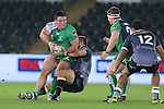 Connacht prop Dennis Buckley looks to hooker Jason Harris-Wright for support as Ospreys replacement prop Dmitri Arhip hauls him down.<br /> Guiness Pro12<br /> Ospreys v Connacht<br /> Liberty Stadium<br /> 31.10.14<br /> ©Steve Pope-SPORTINGWALES