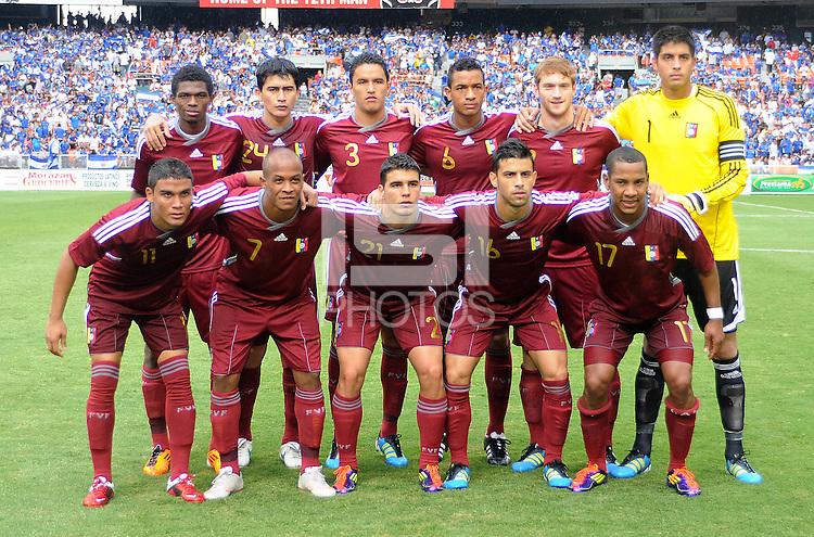 Venezuela starting eleven. El Salvador National Team defeated Venezuela 3-2 in an international friendly at RFK Stadium, Sunday August 7, 2011.