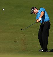 PGA golfer Rory Sabbatini hits a chip shot during the 2007 Wachovia Championships at Quail Hollow Country Club in Charlotte, NC.