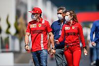 3rd June 2021; Baku, Azerbaijan;  LECLERC Charles (mco), Scuderia Ferrari SF21, arrives during the Formula 1 Azerbaijan Grand Prix 2021 at the Baku City Circuit, in Baku, Azerbaijan