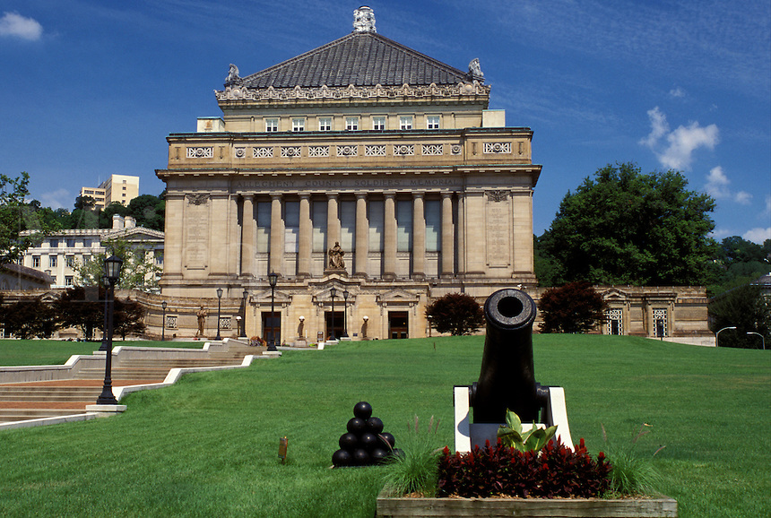 Pittsburgh, PA, Pennsylvania, Soldiers and Sailors Memorial Hall honors the memory of veterans of all wars.