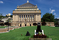 Pittsburgh, PA, Pennsylvania, Soldiers and Sailors Memorial Hall honors the memory of veterans of all wars.