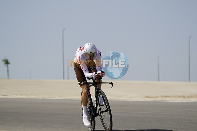Francois Biidard (FRA) AG2R Citroen Team during Stage 2 of the 2021 UAE Tour an individual time trial running 13km around  Al Hudayriyat Island, Abu Dhabi, UAE. 22nd February 2021.  <br /> Picture: Eoin Clarke | Cyclefile<br /> <br /> All photos usage must carry mandatory copyright credit (© Cyclefile | Eoin Clarke)