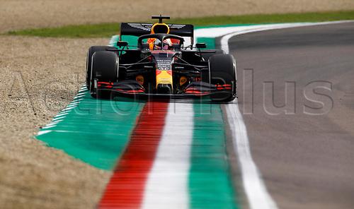 1st November 2020, Imola, Italy; FIA Formula 1 Grand Prix Emilia Romagna, Race Day;  33 Max Verstappen NLD, Aston Martin Red Bull Racing wide at the corner