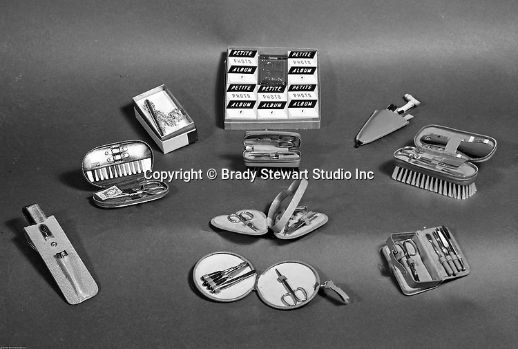 Client:  Edlis Company Inc.<br /> Ad Agency: None / Edlis<br /> Contact: Mr. Cohen<br /> Product:  Home Beauty Products Catalog<br /> Location: Brady Stewart Studio at 812 Market Street in Pittsburgh<br /> <br /> Studio photography of Petite Photo Albums, Nail Clippers, brushes, and other beauty supplies. Edlis is a beauty and barber distributor in the Pittsburgh area. They have been in business for over 100 years. They supply locally, nationwide, and internationally.