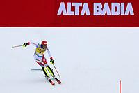 21st December 2020; Alta Badia Ski Resort, Dolomites, Italy; International Ski Federation World Cup Slalom Skiing; Ramon Zenhaeusern (SUI) comes through the finish gate