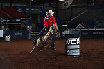 Sherry Crevi during the second round of barrel qualifiers at the WCRA Stampede at the E. Photo by Andy Watson