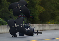 Sep 14, 2019; Mohnton, PA, USA; NHRA top fuel driver Steve Torrence during qualifying for the Reading Nationals at Maple Grove Raceway. Mandatory Credit: Mark J. Rebilas-USA TODAY Sports